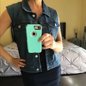 Jackets & Blazers - Denim jean blue vest, oversized